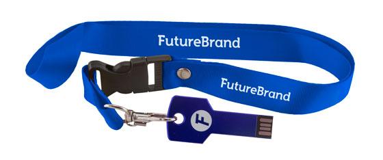 USB keycord blauw
