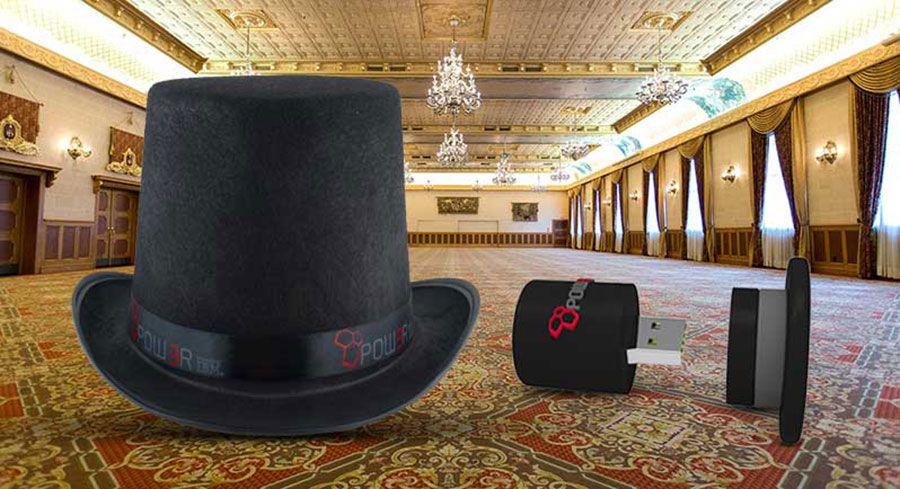 De custom USB-hoeden van Pow3r